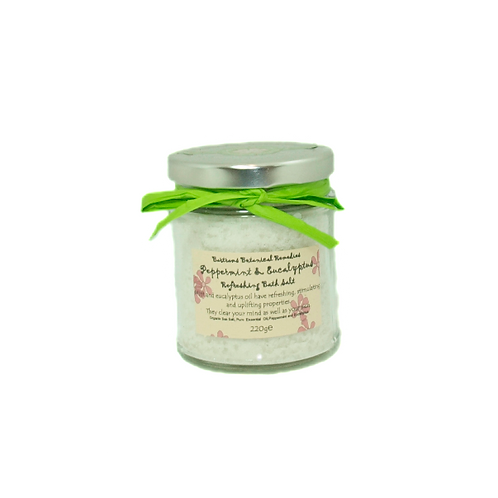 Peppermint & Eucalyptus Bath Salts 220g