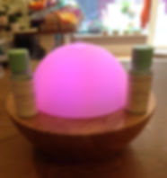 essential oils, diffuser, bamboo, glass