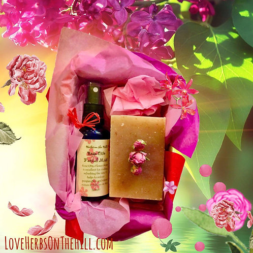 Rose Facial Mist & Soap Box
