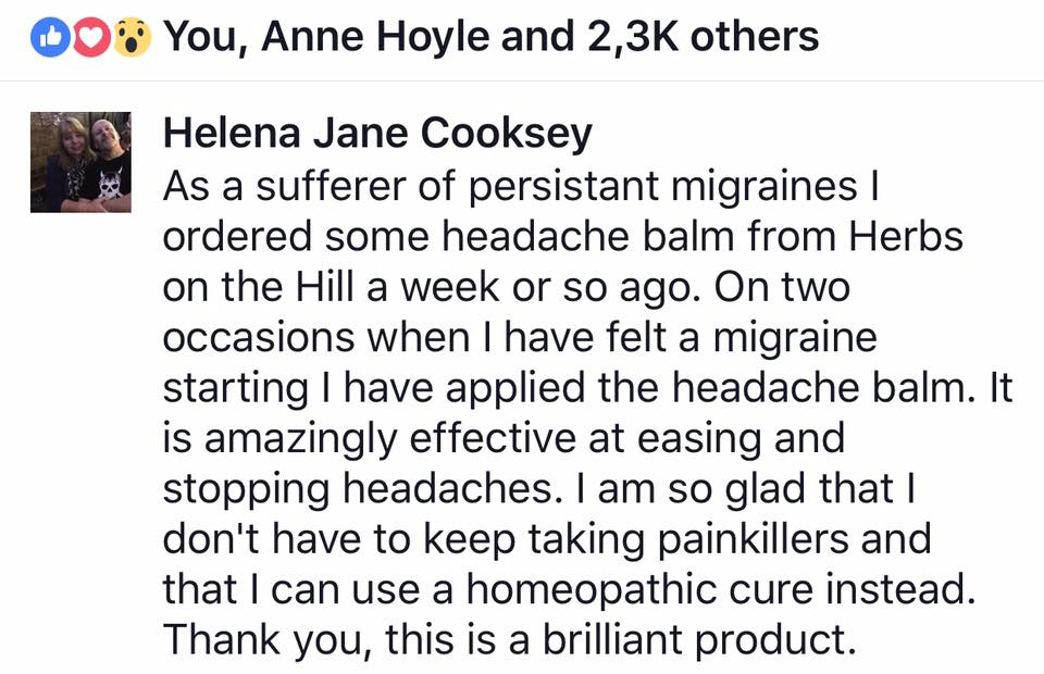HB MIGRAINE EFFECTIVE AMAZING NO PAINKILLERS