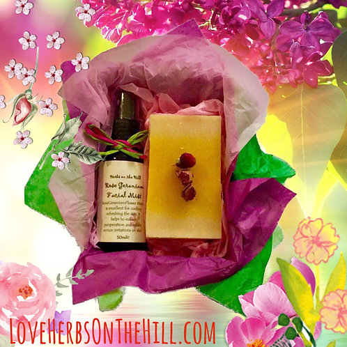 Rose Geranium Facial Mist & Soap Box