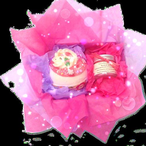 Christmas Bath Bomb and Headache Balm gift Set