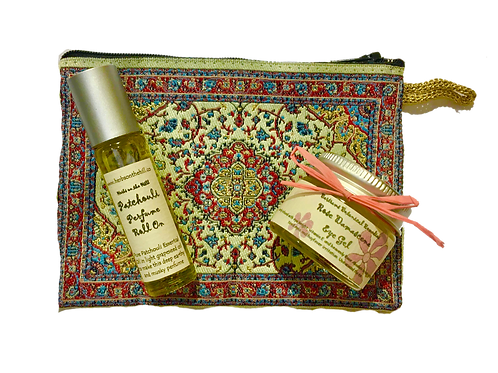 Patchouli RollOn & Rose EyeGel Purse Set