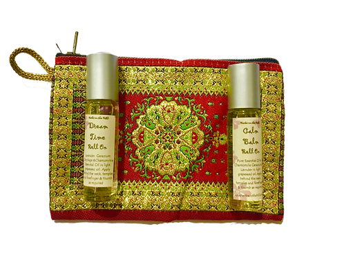 Calm Balm & Dreamtime RollOn Purse Set
