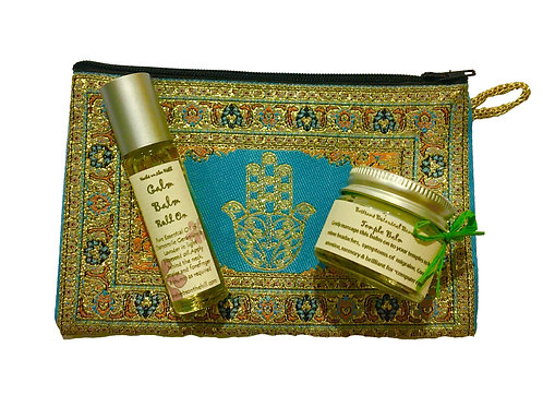 Temple Balm jar & Calm Balm RollOn Purse Set