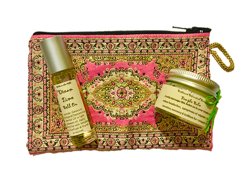 Temple Balm jar & Dreamtime RollOn Purse Set