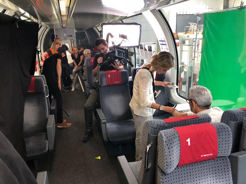Dreharbeiten Swiss Travel System