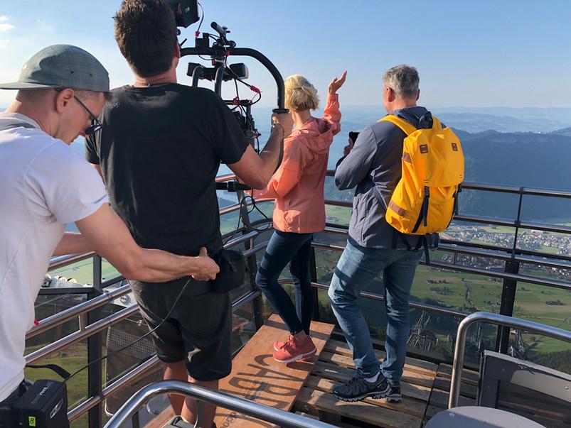 Dreharbeiten Swiss Travel System 14
