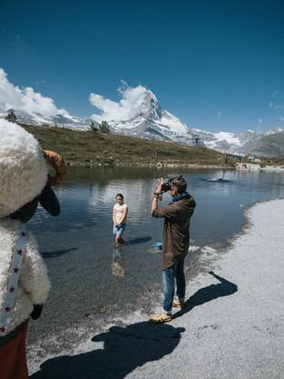 Dreharbeiten SBB 360 Zermatt 1