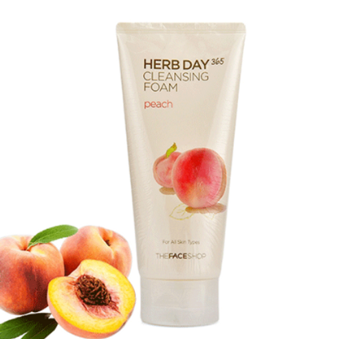 THE FACE SHOP Herb Day 365 Cleansing Foam Peach