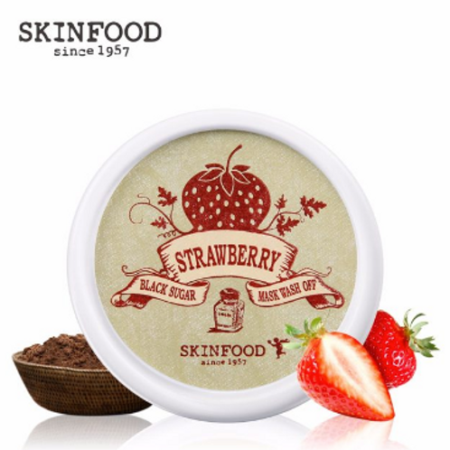 SKINFOOD Black Sugar Strawberry Sugar Mask Wash Off
