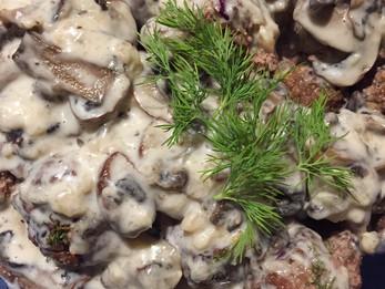 Dilly Mushroom Meatballs