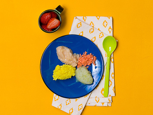 Escolhi dar comidinha com a colher, como preparar?