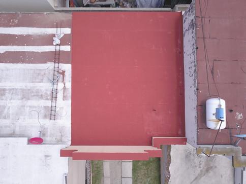 Aplicacion de elastomerico sobre superficie con arenado previamente instalado
