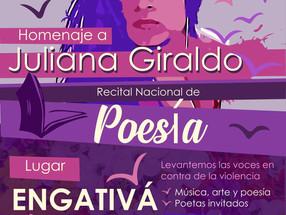 Recital Nacional de Poesía Homenaje a Juliana Giraldo