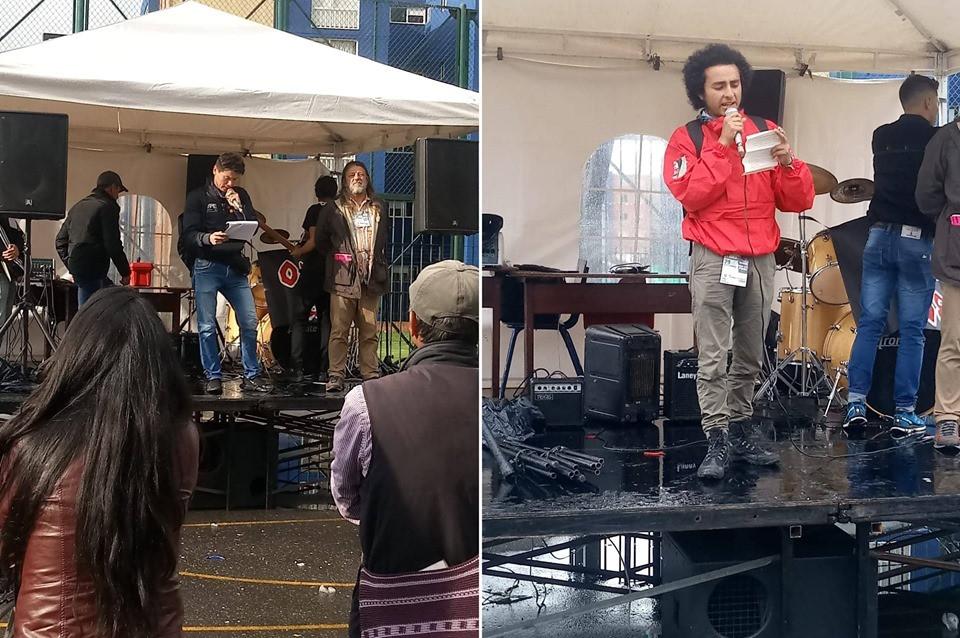 Poetas Xavier de las Casas, Héctor Hernán Hurtado y Rubén Wc Giraldo en el #FestivalDeArteYCulturaDeSuba