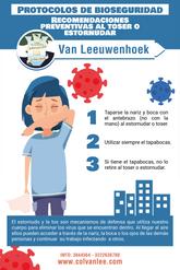 Recomendaciones preventivas al toser o estornudar