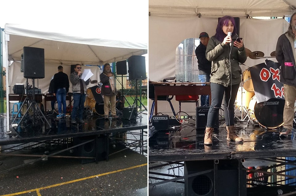Poetas Ringo Cruz y Daniela Lesmes en el II #FestivalDeArteYCulturaDeSuba