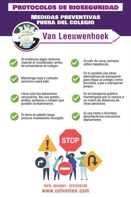 Medidas preventivas fuera del colegio