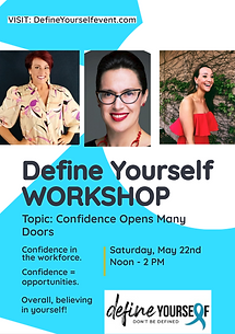 Define Yourself Workshop_ Confidence ope