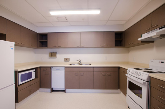 Large communal kitchen area