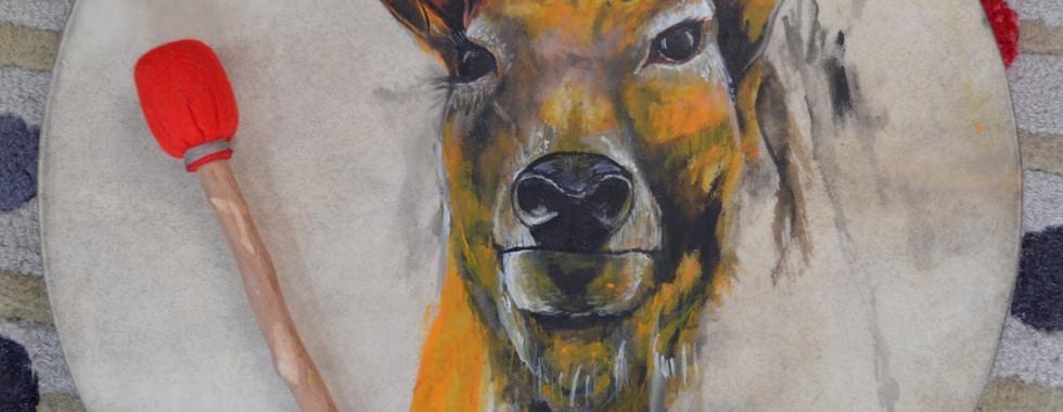 cruz celta + ciervo