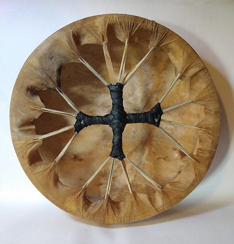 Tambor de 35 cm en cuero de cabra