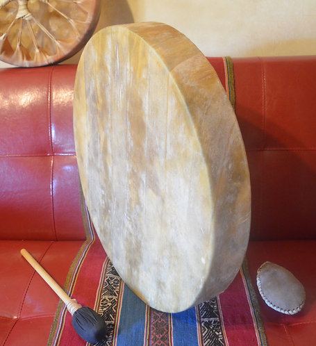 K'uichy - Tambor Medicina cuero de ciervo.