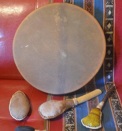 Tambor medicina cuero de potro - 40 cm