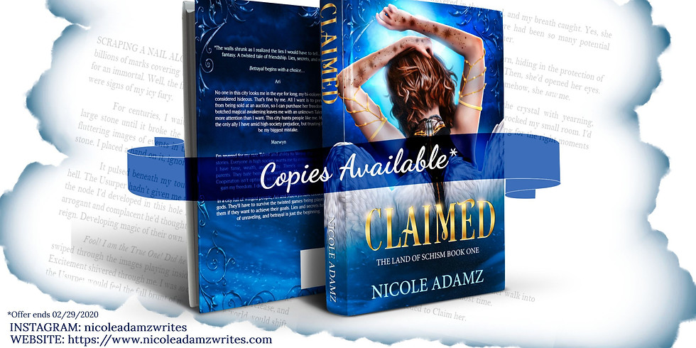 Claimed Cover Reveal Party!