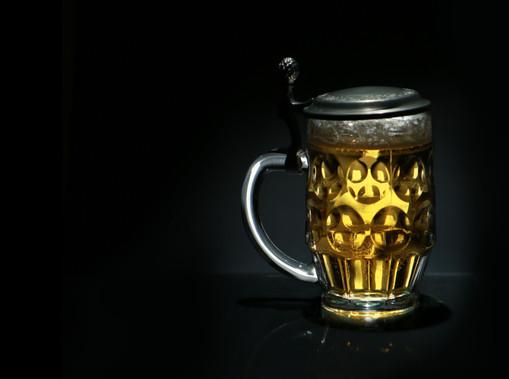 Traditional German pint glass