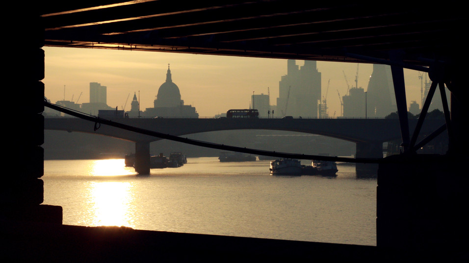 St Paul at dawn, London.