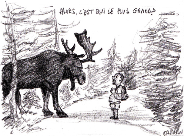 Oli et Caribou illustration