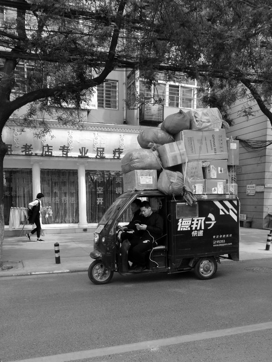 trycicle van in Xi'An, 2017