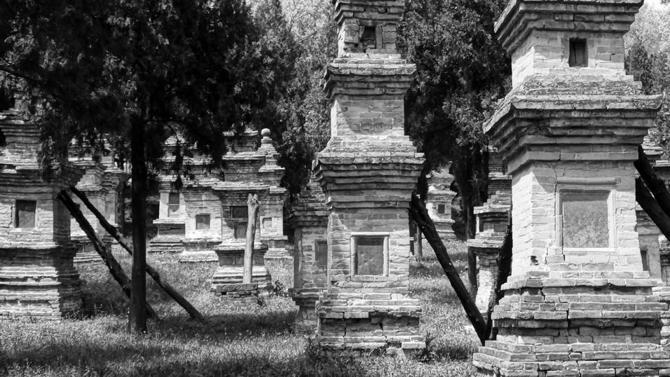 Shaolin monk graves, Dengshen, China.