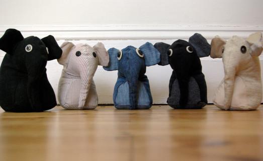 Book end or door stop Elephants