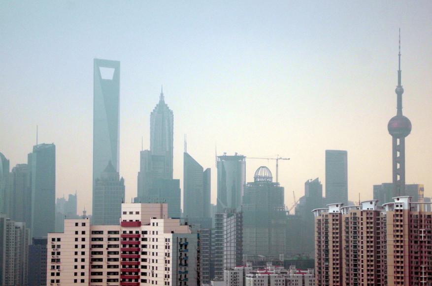 View of Pudong, China.
