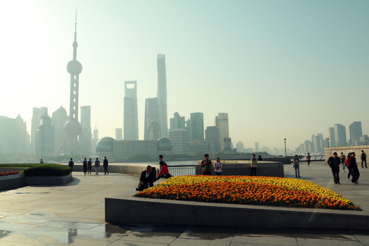 The Bund in the morning, Shanghai, China.