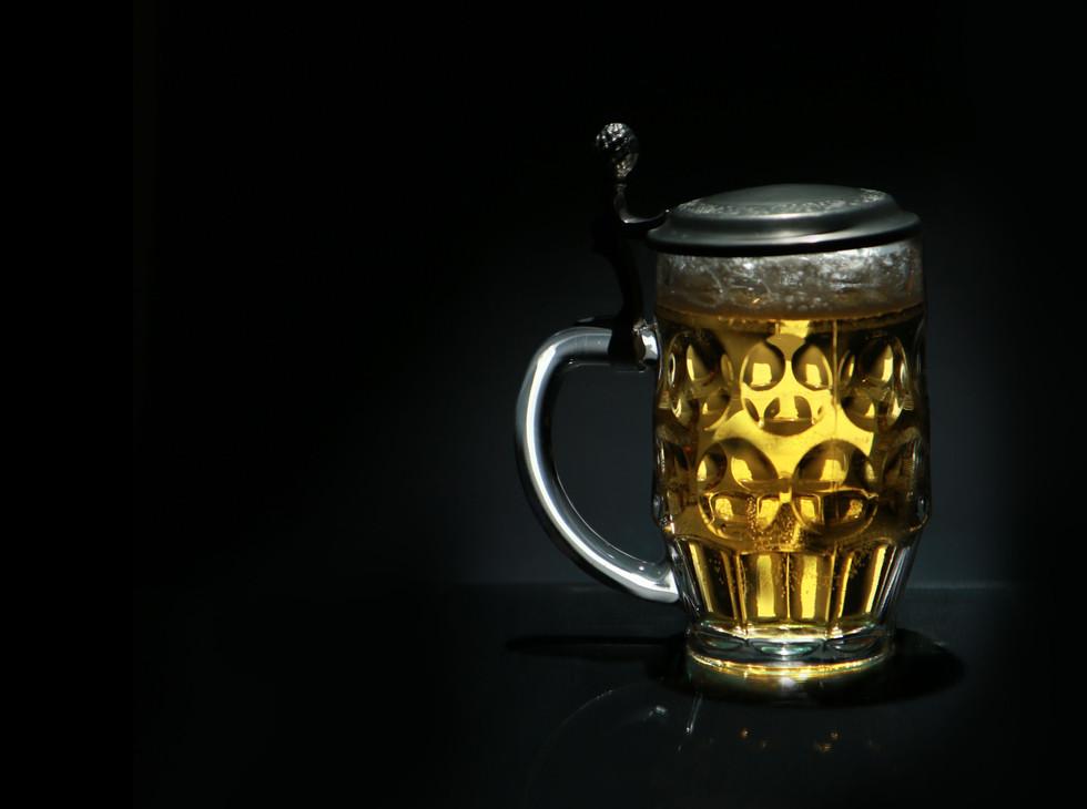 German glass beer
