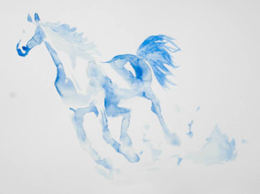 horse water colour