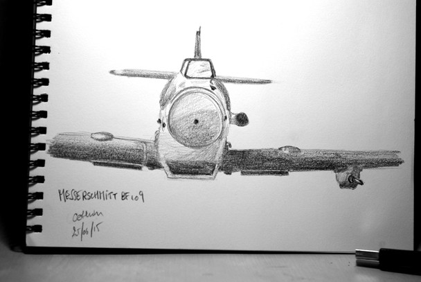 Messerschmitt Bf 109 sketch