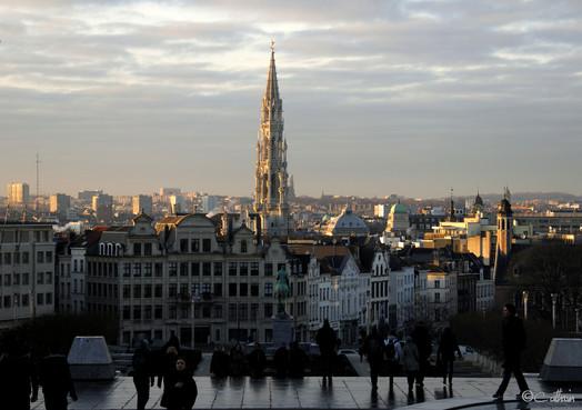 Mont des Arts in Brussels, Belgium.