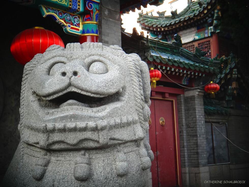 Chinese lion stone, Qingdao 2014.