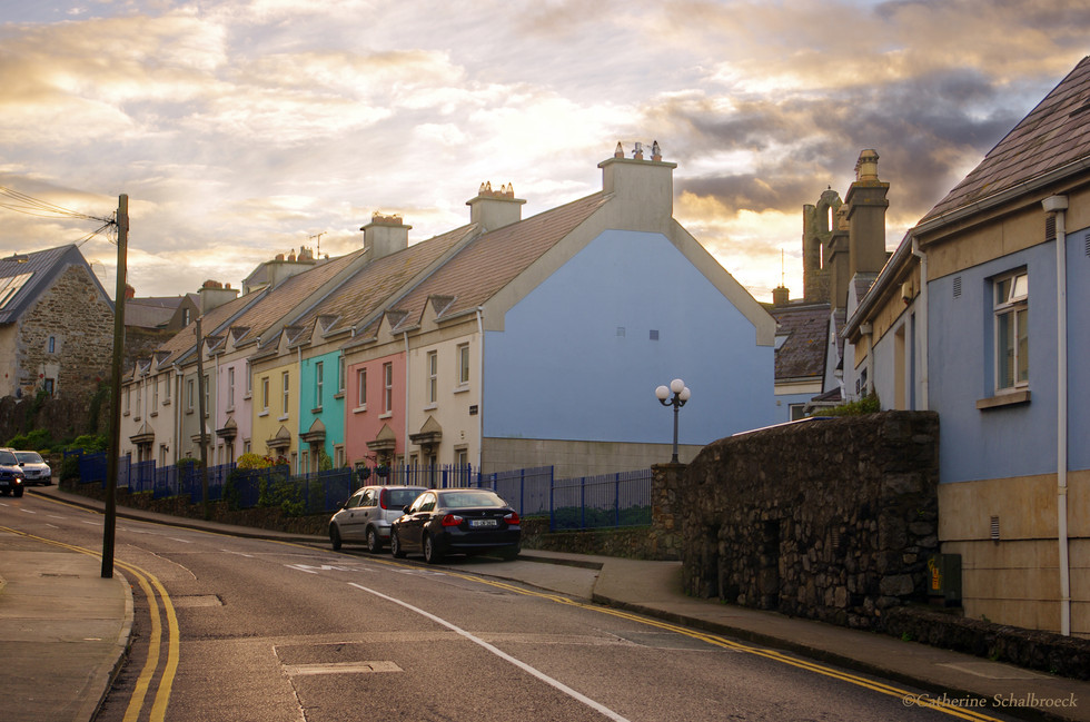 Coloured houses in Howth, Rep. of Ireland.
