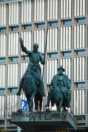 Don Quixotte and Sancho, Brussels.
