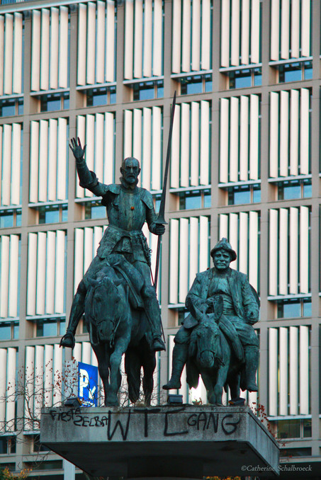 Don Quichotte and Sancho, Brussels