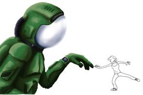 Cosmonaute illustration