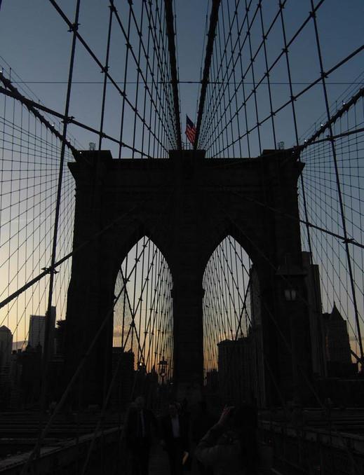 Brooklyn bridge, New York, 2009.