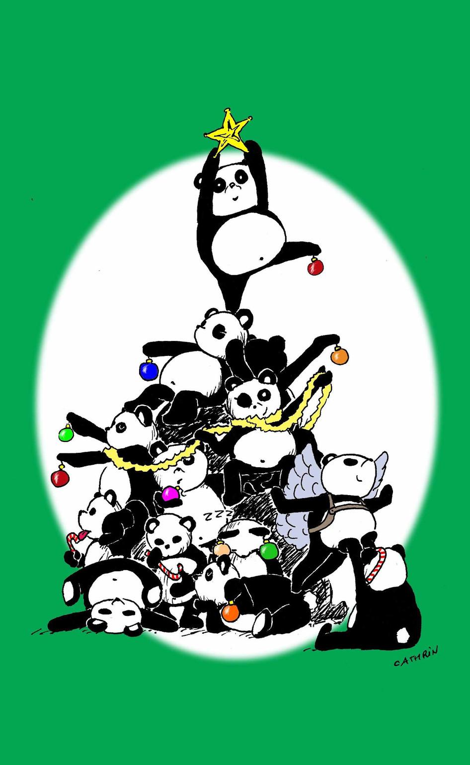 CARD_2013 Xmas Panda