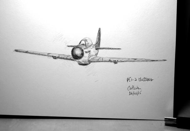 Mustang P51 sketch